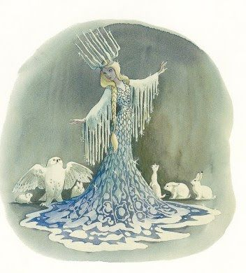 This amazing concept art was for a Snow Queen attraction is Disney Land, which was sadly never actually made.