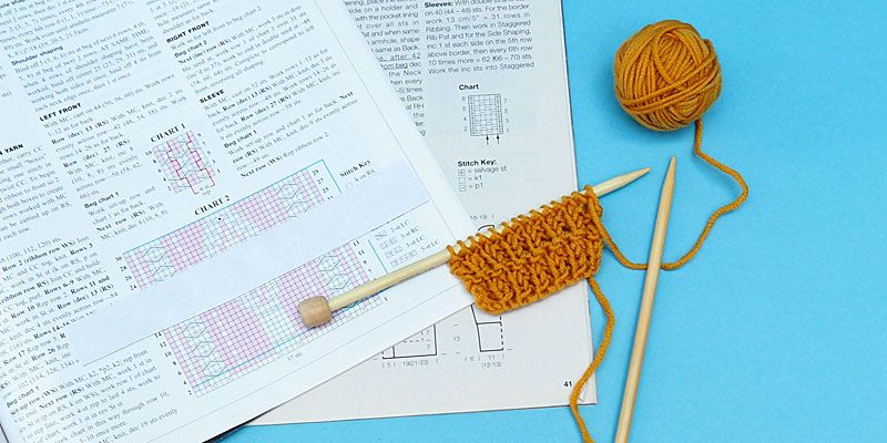 How to read knitting charts 10 rows a day knitting