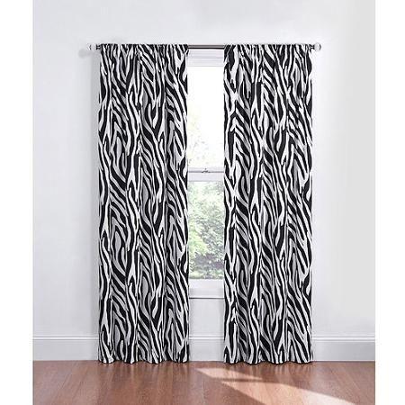 Eclipse Kids Zebra Energy Efficient Blackout Curtain
