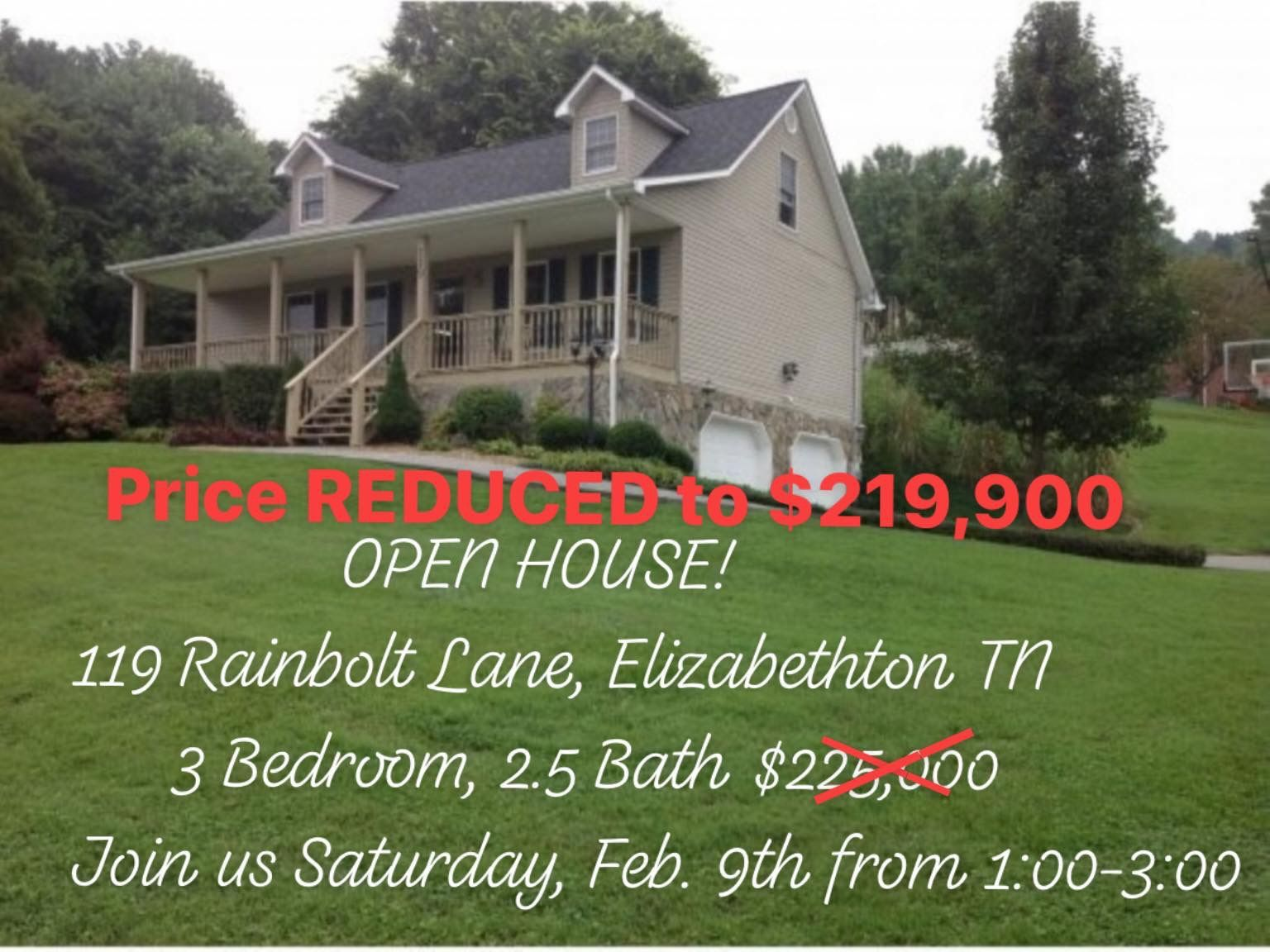 Price Just Reduced To 219 900 Free 1 Year Home Warranty With Purchase Eligible For The Usda 100 Loan Join Us This Home Warranty Open House Beautiful Homes