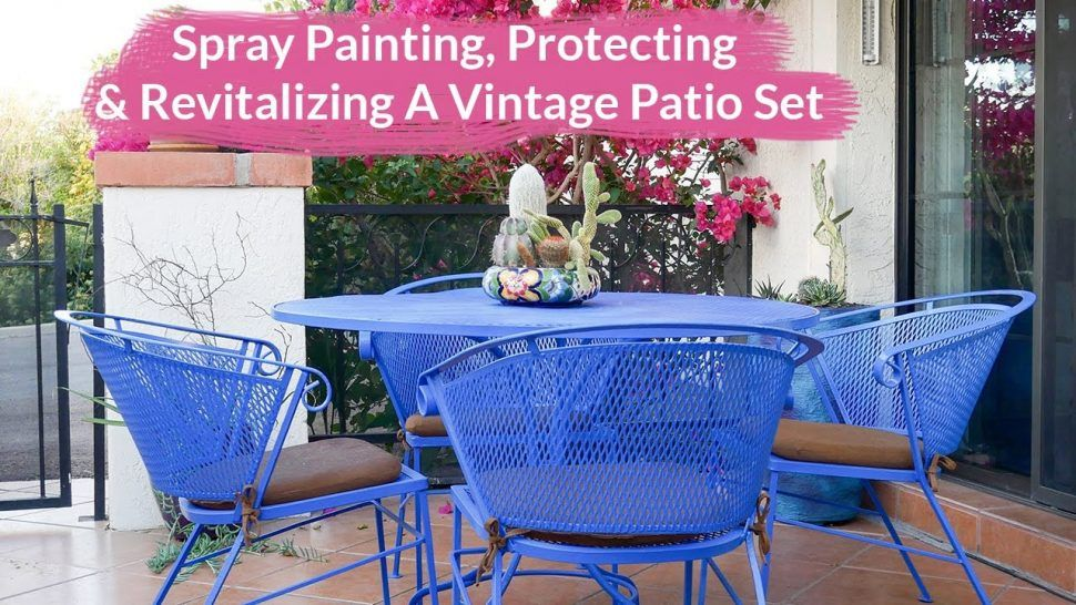Outdoor Furniture Fancy Painting Metal Outdoor Furniture Also