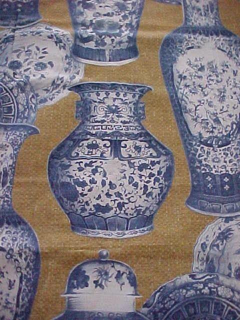 Rare Blue White Ralph Lauren Ginger Jar Fabric 52x34 Ebay
