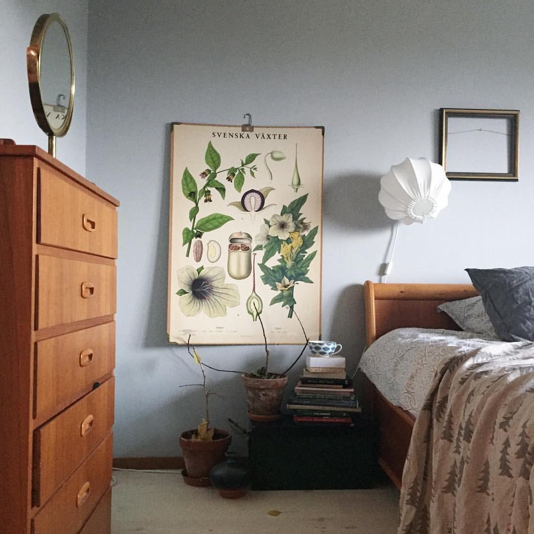 Inredning sovrum inredning : Bedroom. #skolplansch #lampverket #inredning #interior #sovrum ...