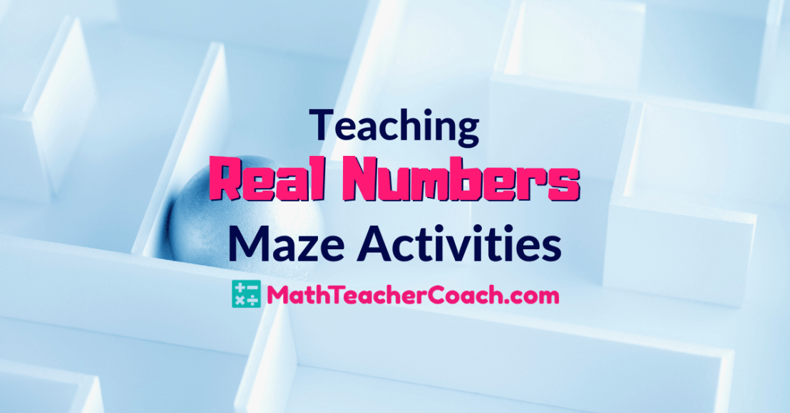 real number system maze activities  with images