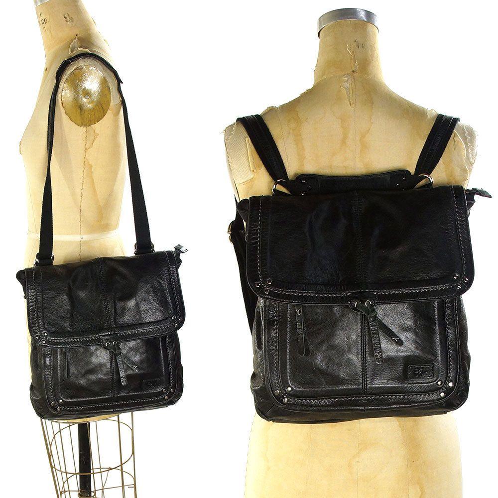 34d4fe5dc01a 90s Leather Backpack   Vintage 1990s Convertible SAK Rucksack with Shoulder  Strap   Large SOFT Black Leather Backpack   Purse   Shoulder Bag by  SpunkVintage