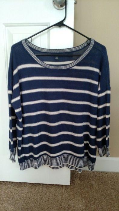 188bb293dc7572 3/4 Sleeve Navy Striped Sweater   Vinted Album   Navy stripes ...