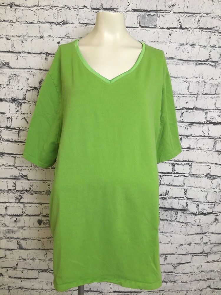 89766f9fca5 Suprema By Catherines Women Plus Size 3X 26W 28W Green Short Sleeve Top  Shirt  Catherines  Top  Casual