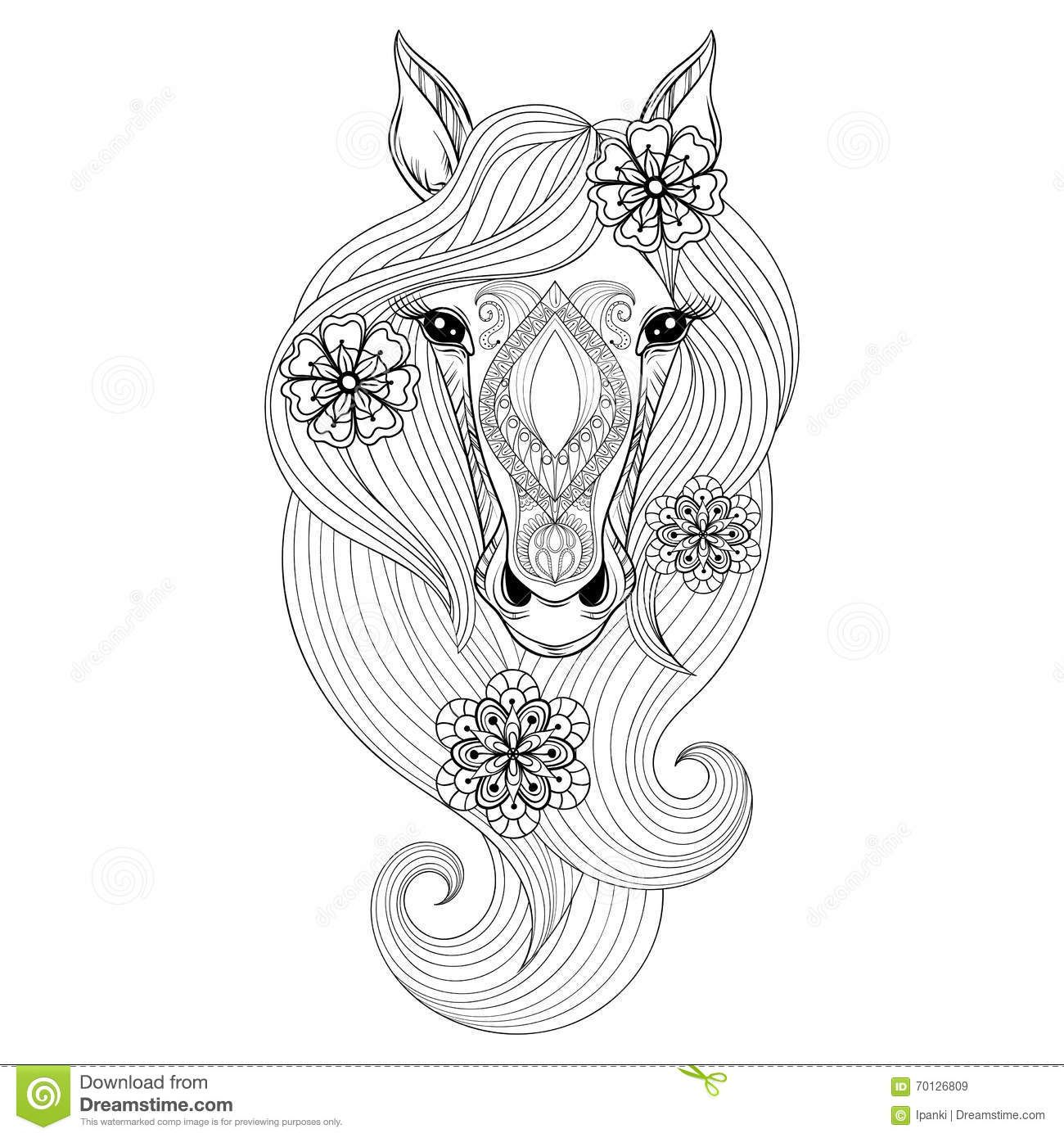 Bildresultat For Mandala Horse Coloring Pages Horse Coloring Pages Horse Tattoo Horse Coloring