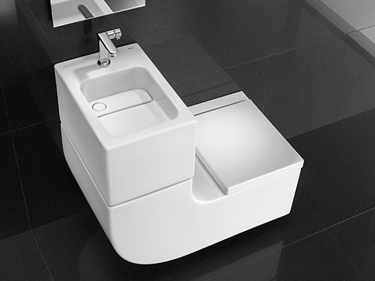 Bathroom eater saving greywater green sustainable wc - Lavabo pequeno roca ...