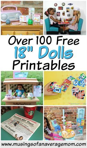 100 free 18 doll printables #dollaccessories