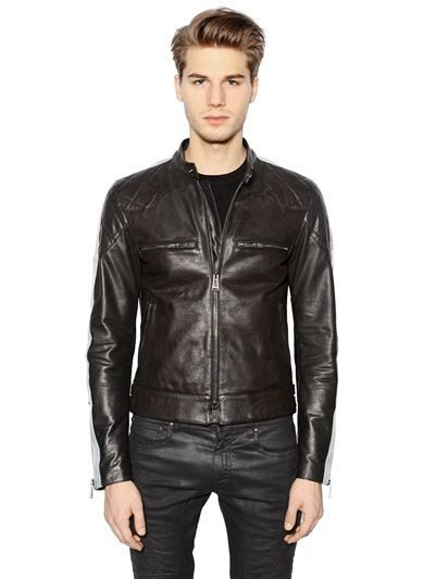 b13a45041dc Pin by Lookastic on Men s Leather Jackets