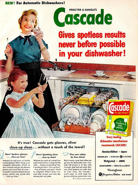 Cascade Dishwasher Detergent Ad Every Leading Dishwasher Manufacturer Recommends Cascade