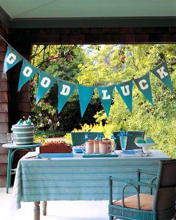 """""""Good Luck"""" Banner in school colors"""