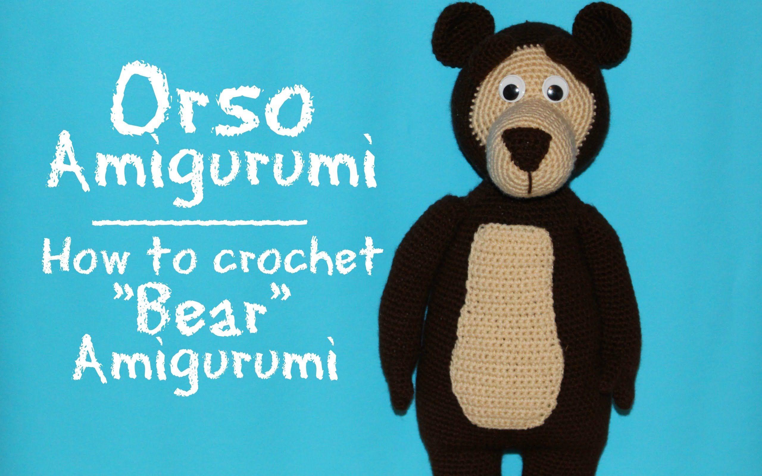 "Orso di ""Masha e Orso"" Amigurumi   How to crochet Bear Amigurumi"