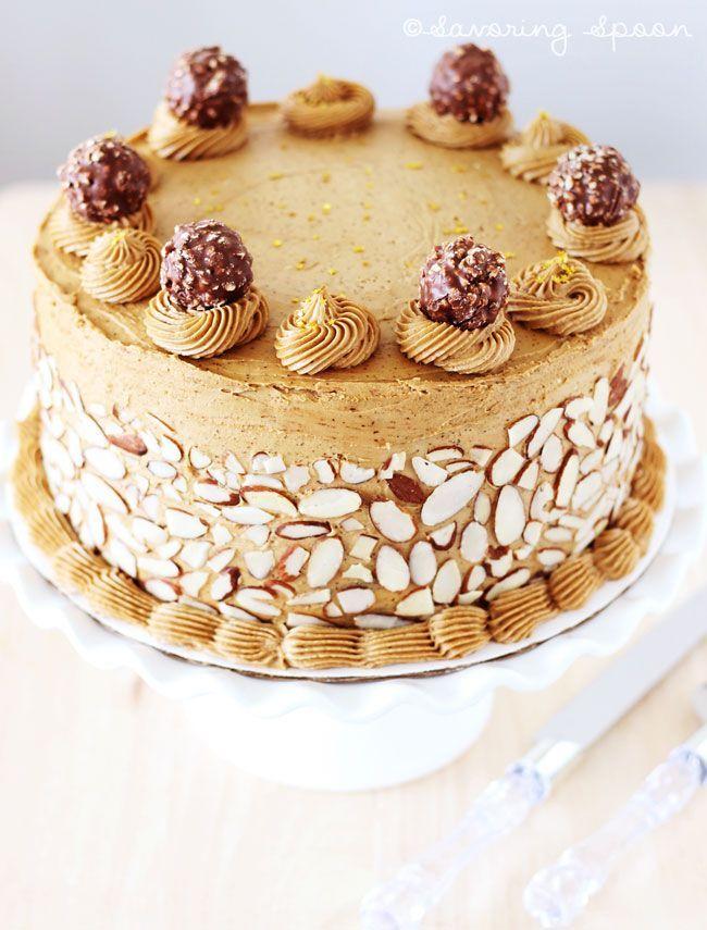 Mocha Espresso Birthday Cake Velvety Cake With Coffee Flavor Icing