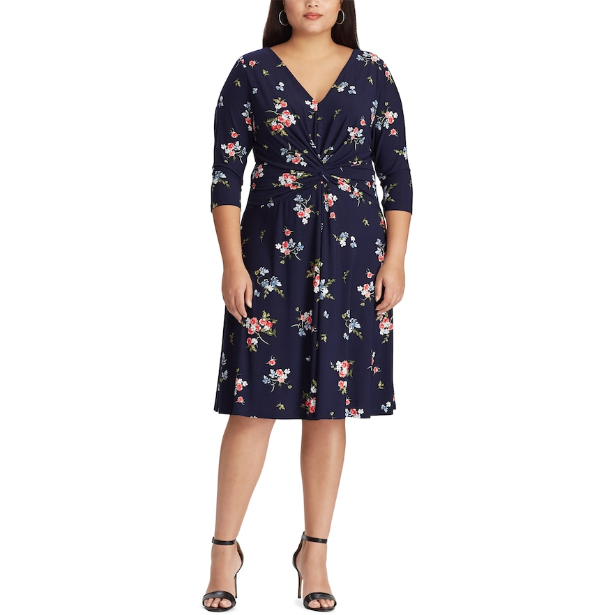 d4e66803ddd8 Plus Size Chaps Floral Twist-Front Dress in 2019 | Products ...