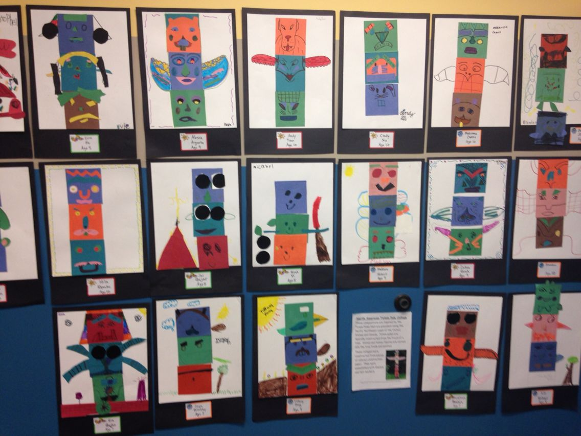 Totem pole collages