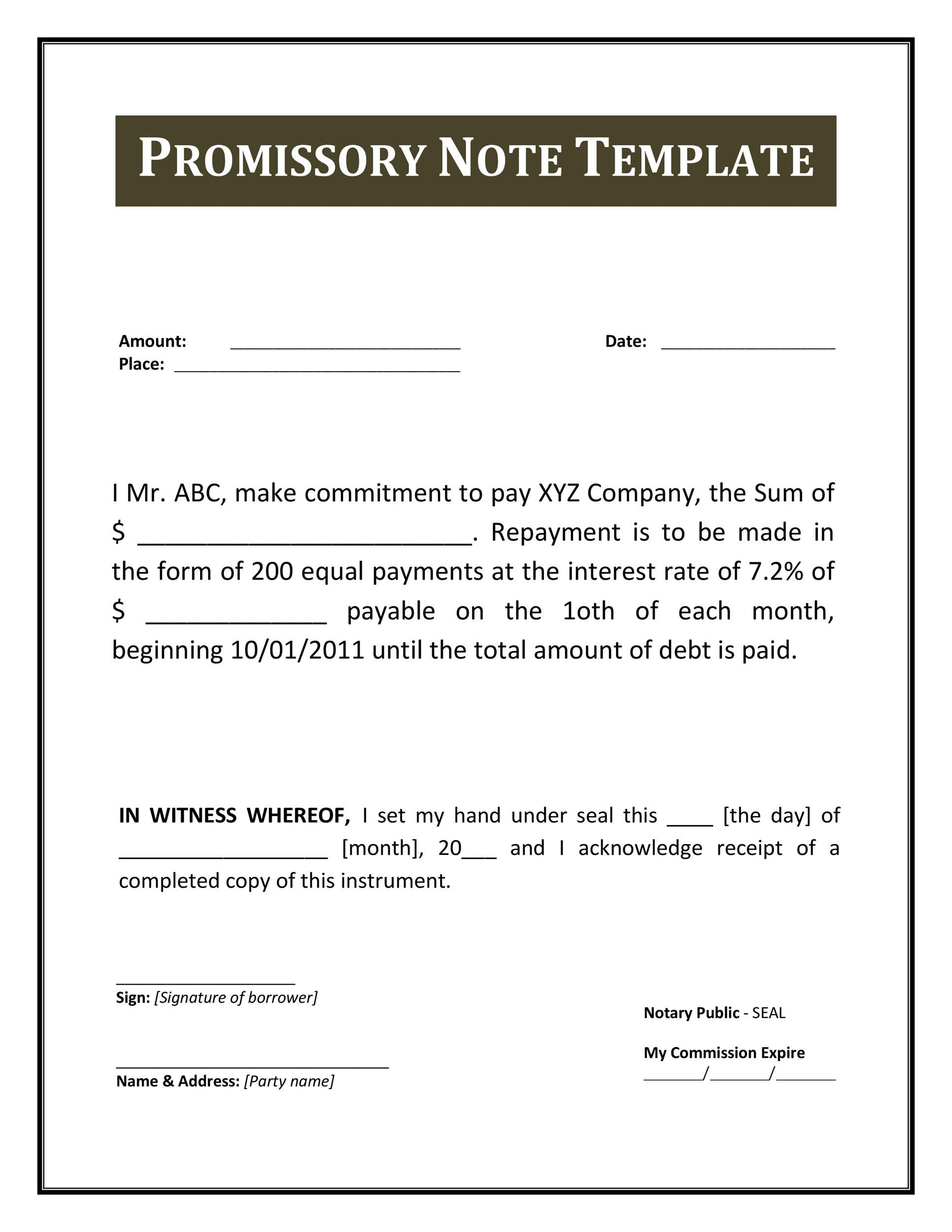 Promise To Pay Agreement Template Awesome Professional Template Design