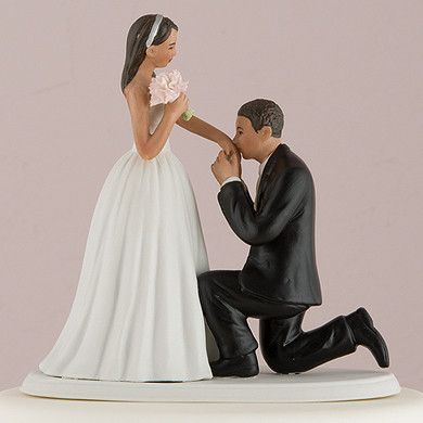 "A ""Cinderella Moment"" Cake Topper with Medium Skin Tone (Available in 7 Hair Colors)"