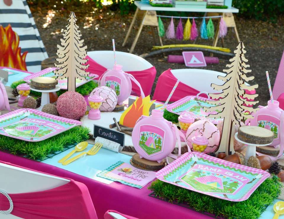 """Camping / Summer Camp / Birthday """"A Girly Glam Camp Out"""
