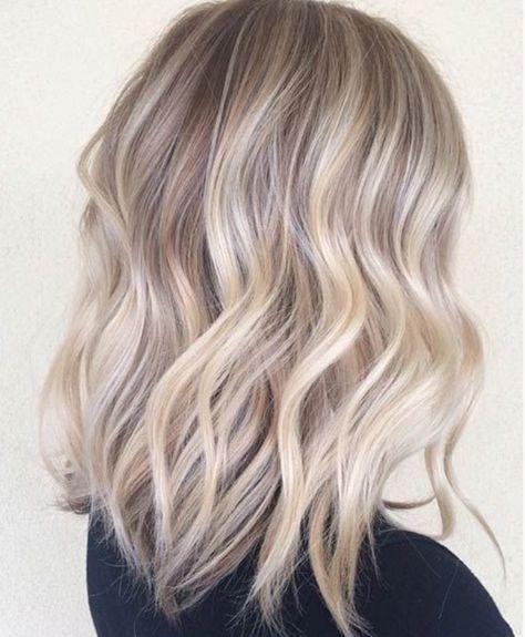 Ombré Suave Color Rubio Ceniza Fryzury I Piękne Włosy Włosy