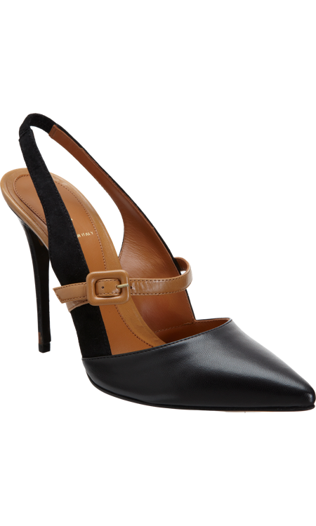 Black Fendi Winter Pumps Fall 2013 Mary Slingback Jane Tobacco qpGSjLzUMV