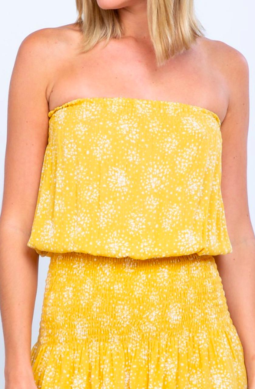Yellow Print Dress Strapless Dress Mini Dress Bohopink Strapless Mini Dress Strapless Dresses Short Mini Dress [ 1280 x 839 Pixel ]