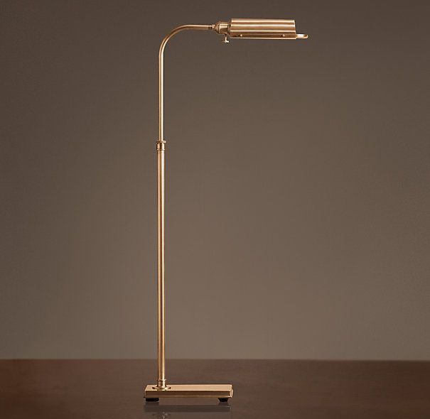 Writers task floor lamp antique brass this color would go well writers task floor lamp mozeypictures Image collections
