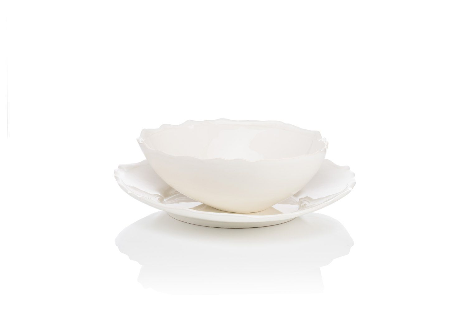SPECIAL PRICE - Collection - Triangular plate and tall bowl with the bottom by MISSDISHceramics on  sc 1 st  Pinterest & Triangular plate Tall bowl Dinnerware Sets White interior Dinner ...