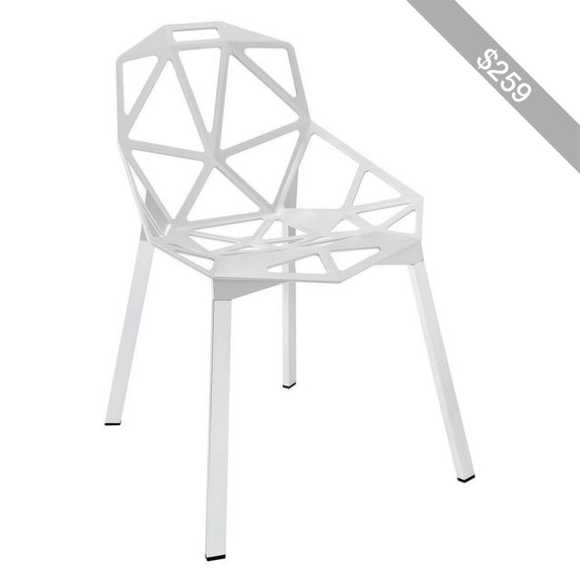 Modway Furniture Connections Dining Side Chair White By