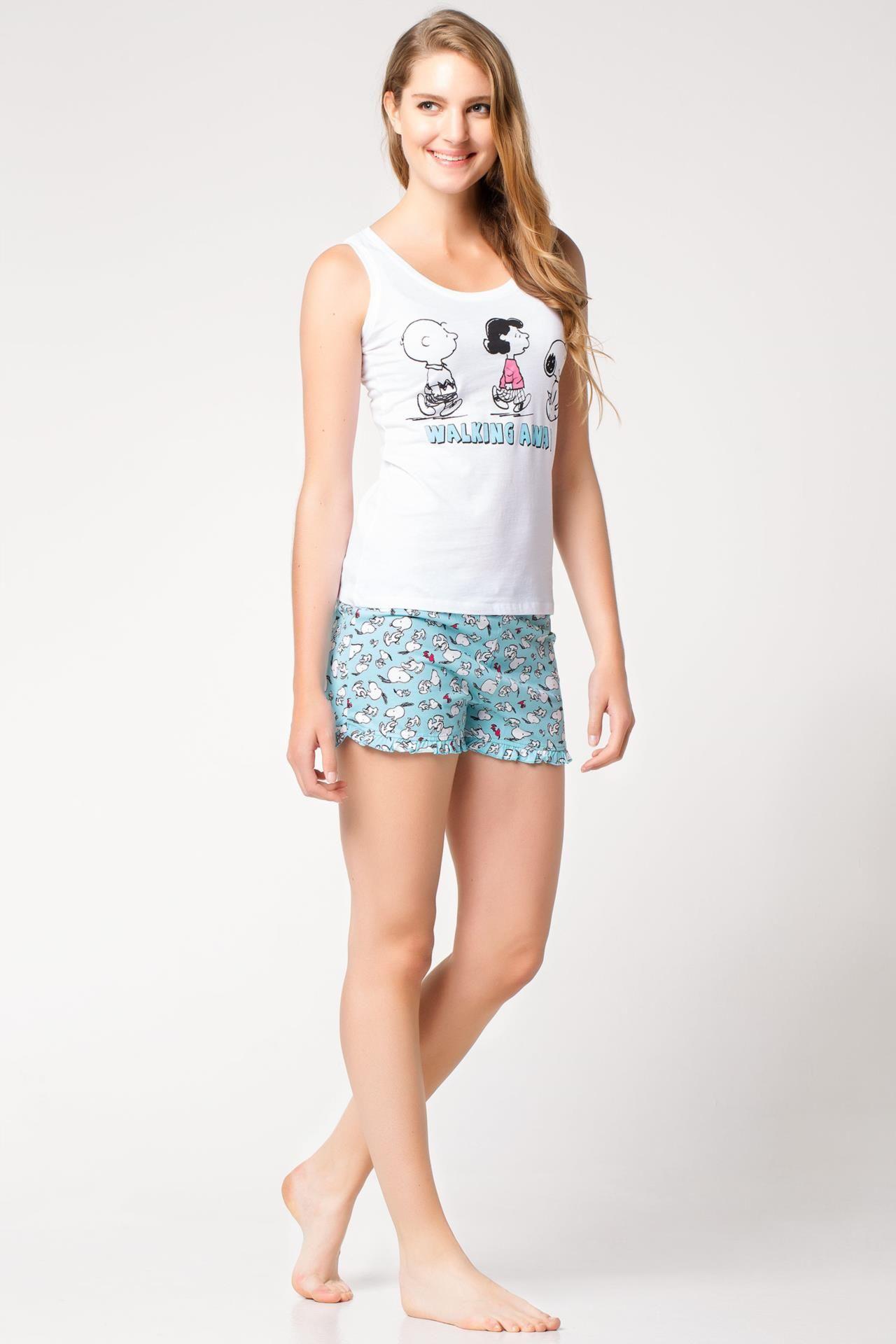 Snoopy Desenli Pijama Takimi Pajamas Women Pyjamas Fashion
