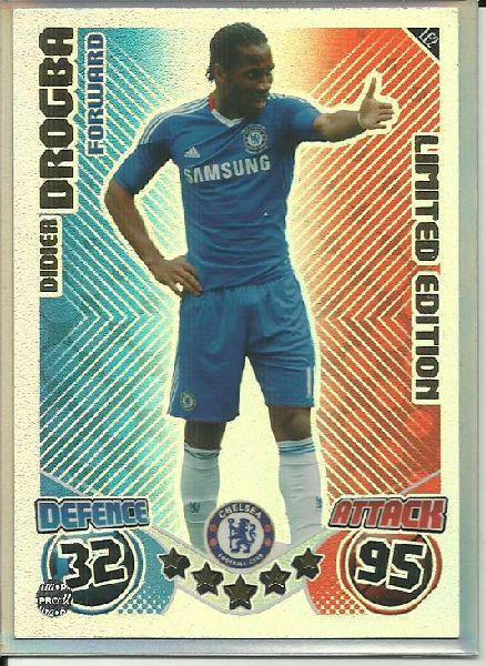 Football Soccer Card Chelsea Match Attax Limited Edition 2010 Drogba On Ebid United Kingdom Match Attax Soccer Cards Chelsea Match