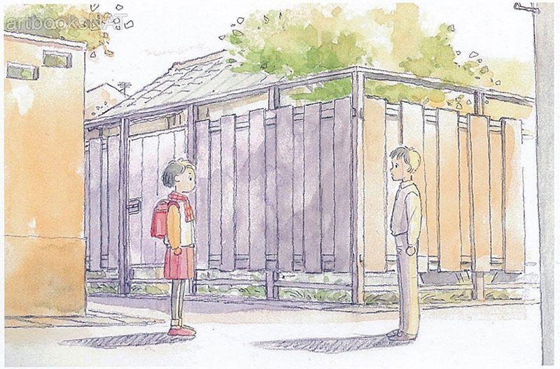 Only Yesterday (おもひでぽろぽろ) image board art illustrated by Yoshiyuki Momose (百瀬義行) in Momose Yoshiyuki Studio Ghibli Works (Amazon US | JP).