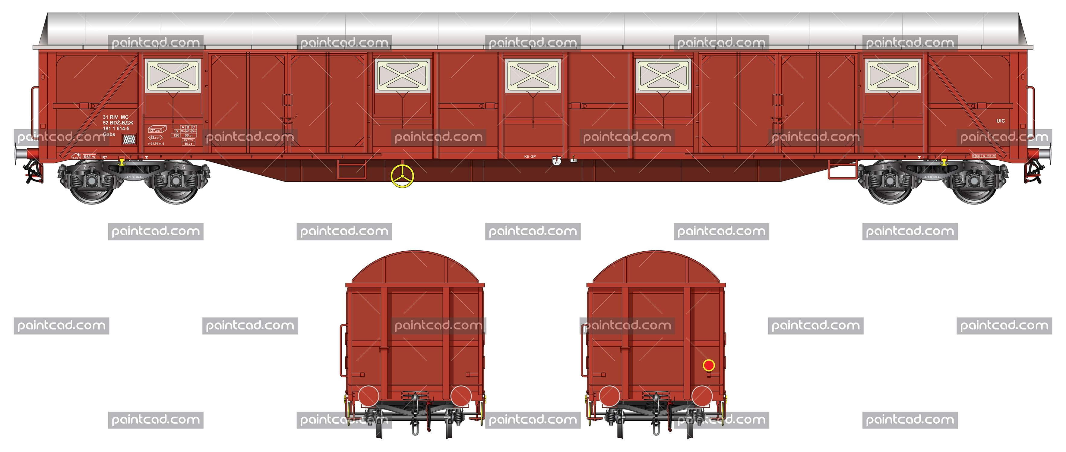 Covered Freight Wagon With Sliding Doors And Vents With Images