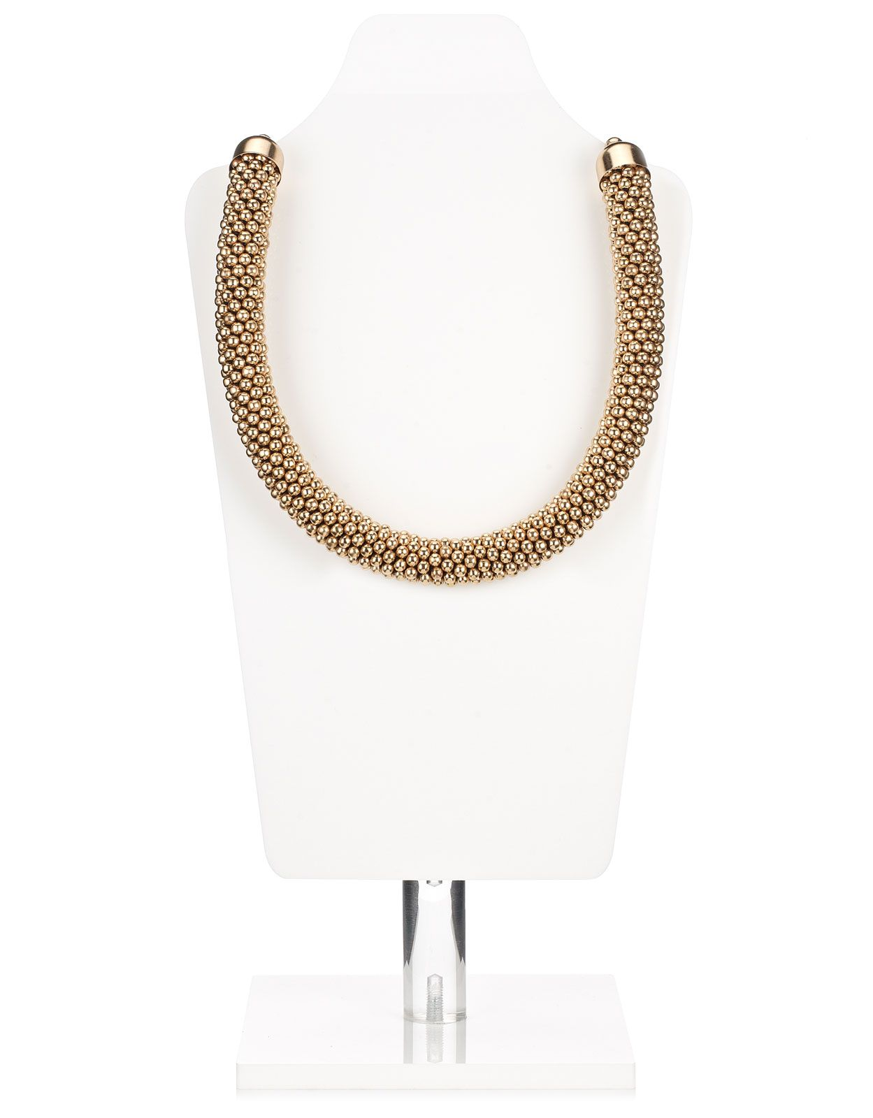 ae299bab2075fc Mega Chunky Bobble Necklace | Gold | Accessorize Accessorize Bags, Silver  Necklaces, Pearl Necklace