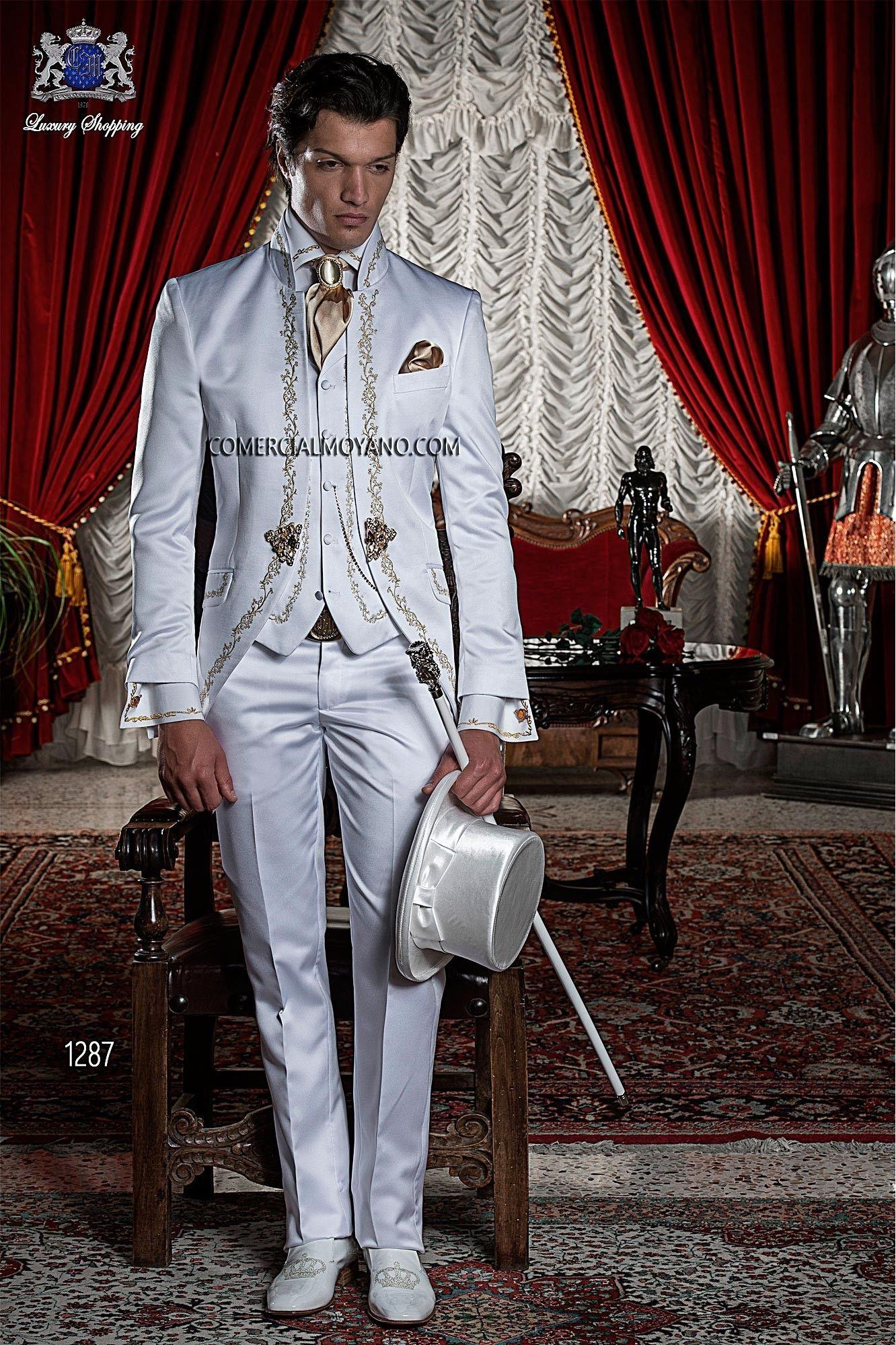 Baroque white men wedding suit model 1287 Ottavio Nuccio Gala