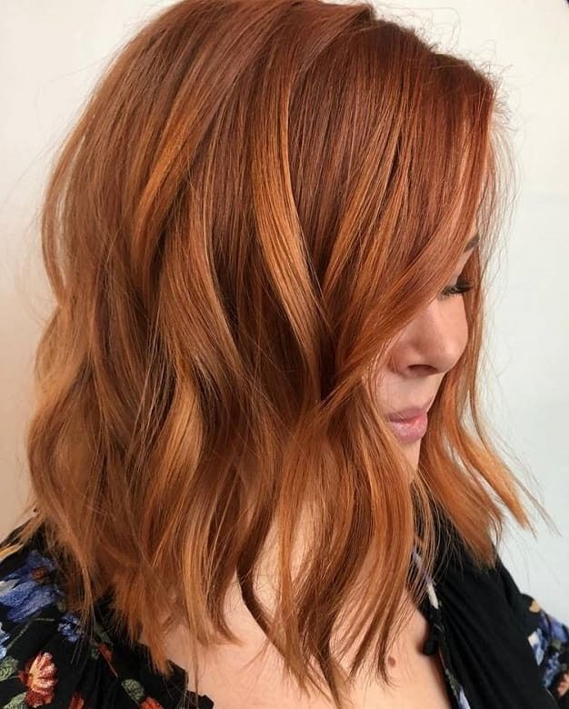 Haircolor Coloracion Peluqueria Colorinspiration In 2020 Frisur Rote Haare Haarfarbe Kupferblond Kurzhaar Bobs