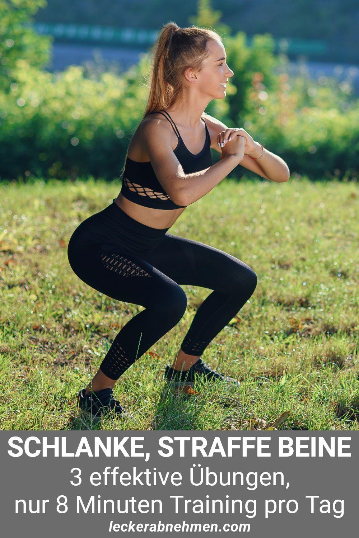 Beine trainieren: 3 Übungen fürs Frauen Beintraining für