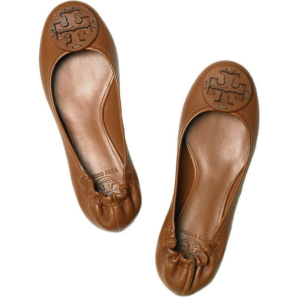e04b5cbed94132 Tory Burch Reva leather ballet flats ❤ liked on Polyvore