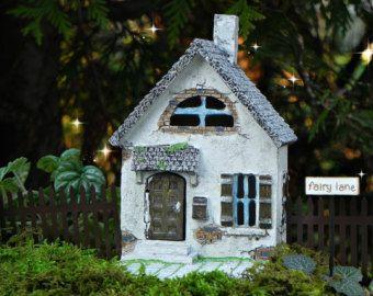 Fairy House Large Fairy Garden Cottage Vine Roof Miniature