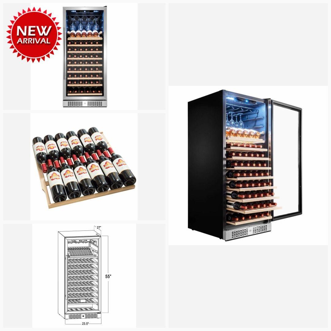 AKDY 59 Bottle Touch Panel Single Zone Black Silver Wine