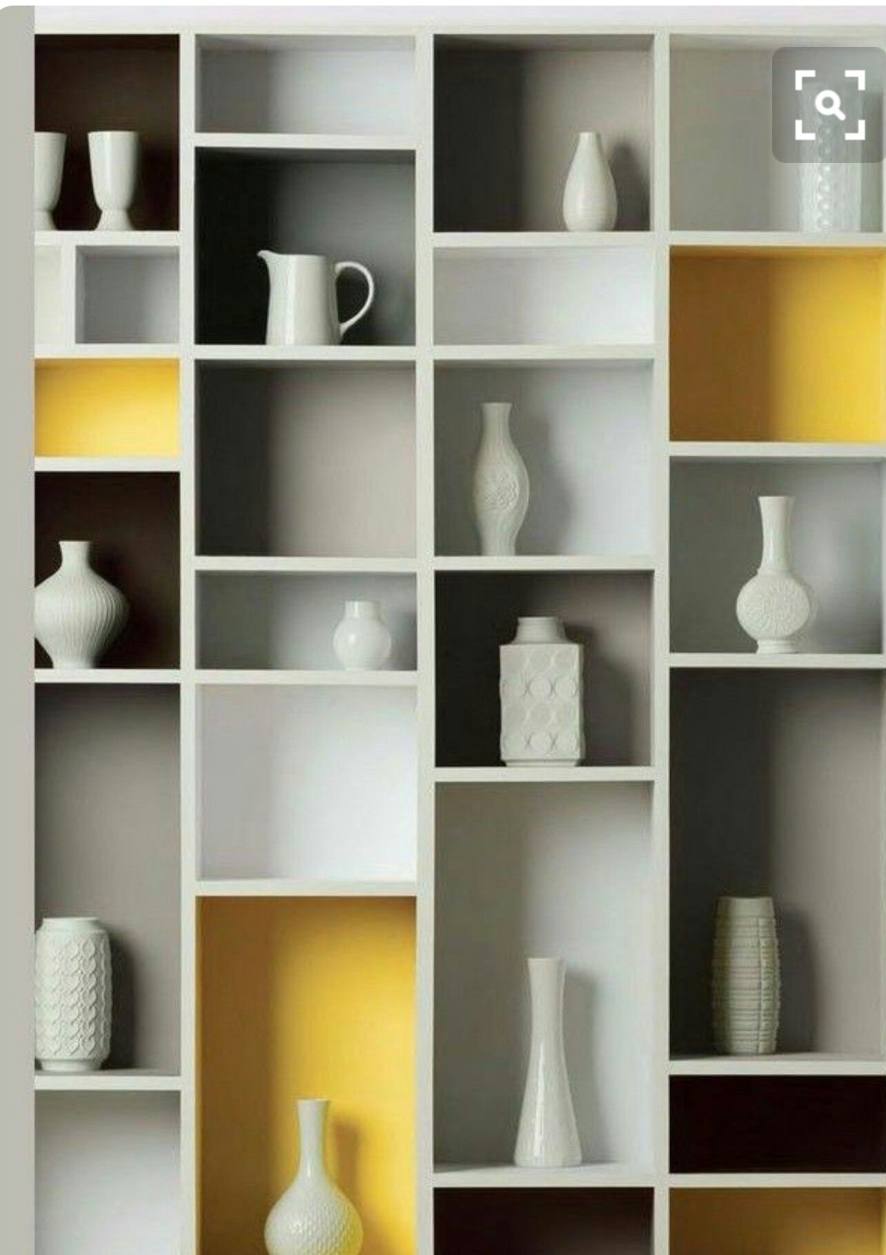 Explore Yellow Bookshelves, Grey Shelves And More