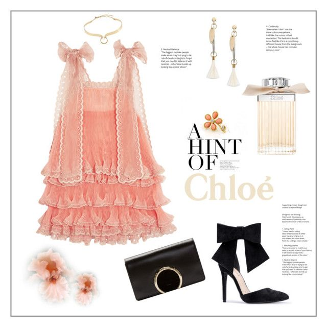 """""""Chloe"""" by frenchfriesblackmg ❤ liked on Polyvore featuring Chloé, Gump's and Alexis Bittar"""