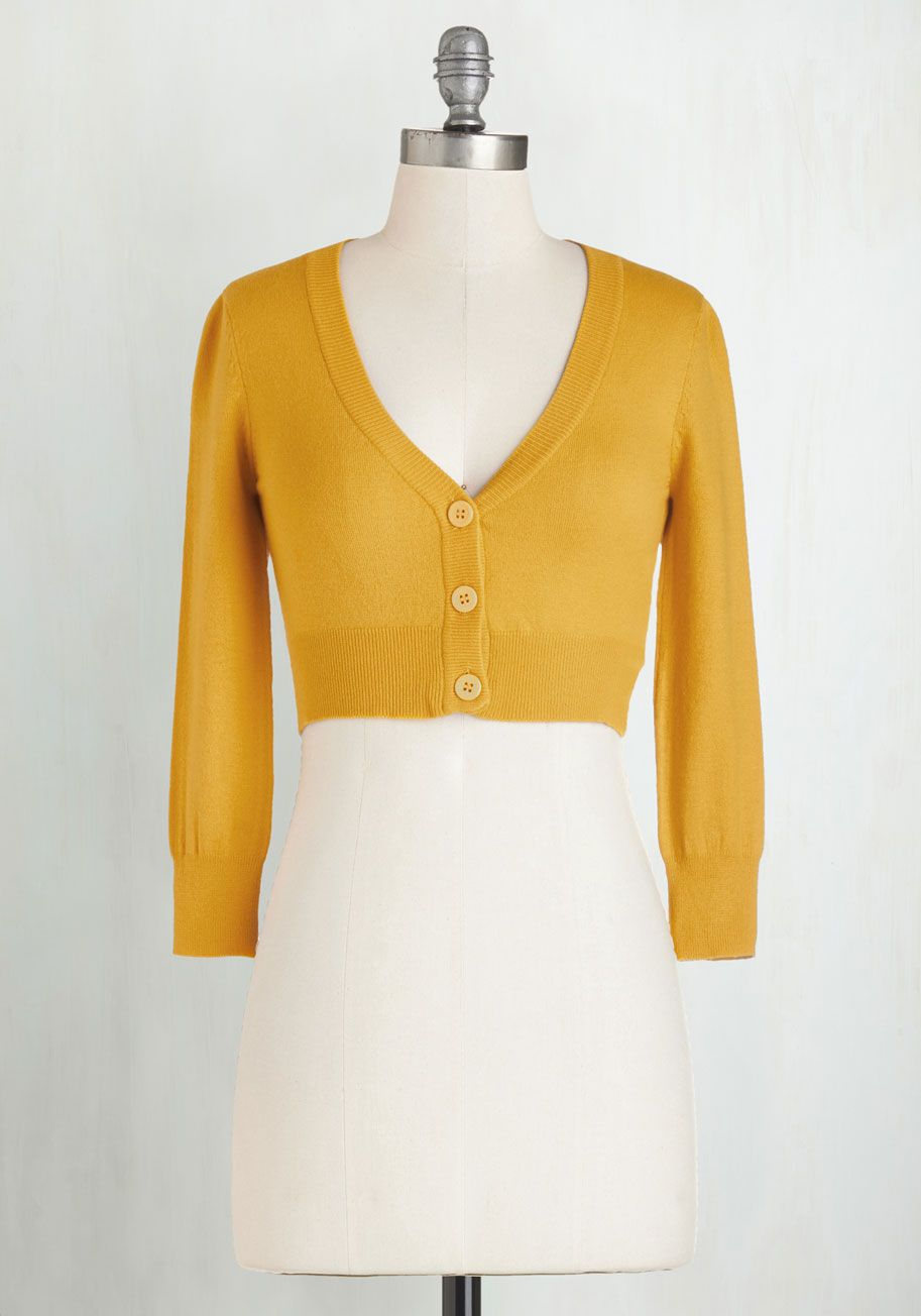 The Dream of the Crop Cardigan in Black | ModCloth, Mustard ...