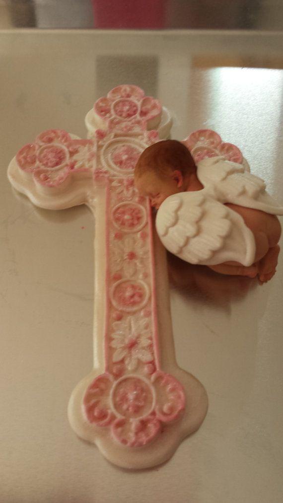 Baby shower fondant cake topper Baptism cake decorations ...