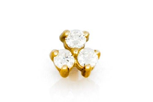 14kt Yellow or White Gold 3 2mm Stone Custer Gems Internally