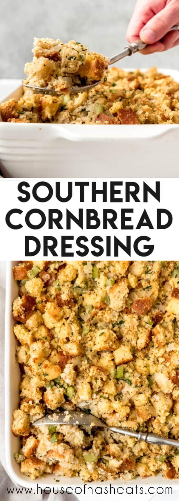 Easy Southern Cornbread Dressing #cornbreaddressing