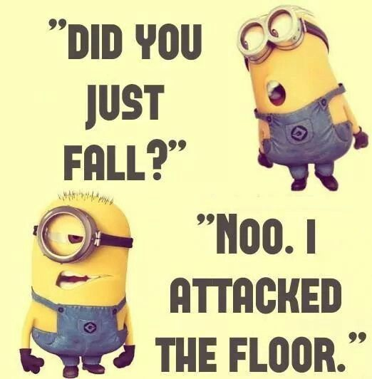 Falling Down The Minion Life Funny Minion Memes Funny Quotes