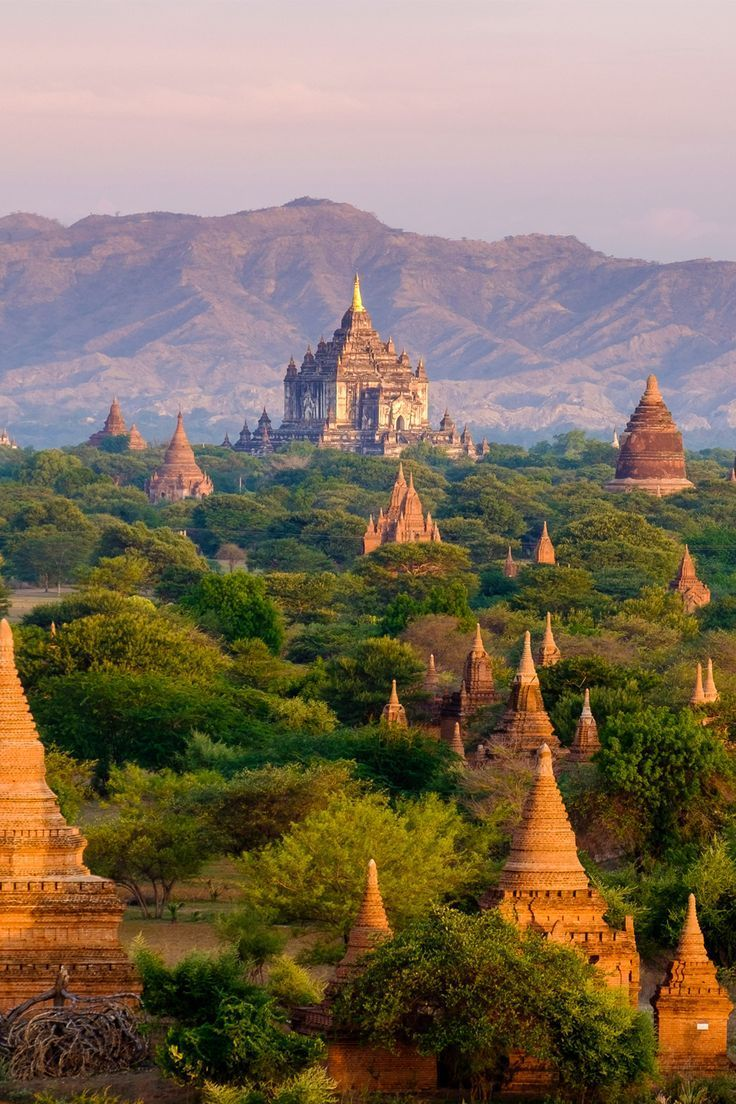 The ancient city of Bagan in Myanmar is a UNESCO World Heritage Site.