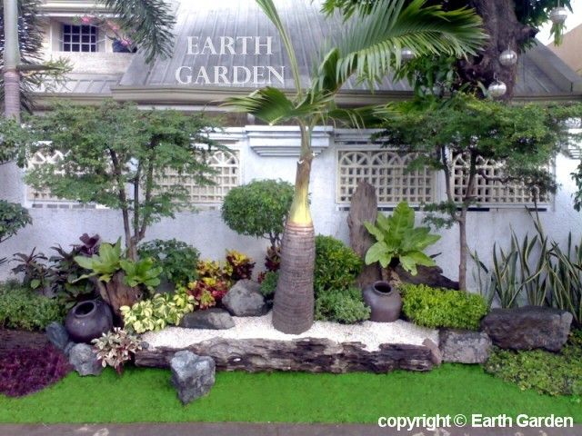 Backyard idea tropical garden design outdoors for How to landscape a garden